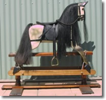 rocking horse - dappled grey black mane
