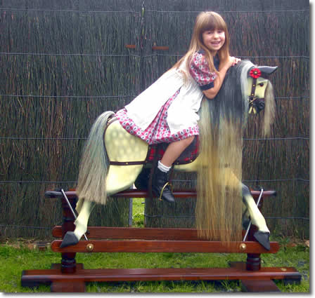 Sienna on the Powerhouse Museum Rocking Horse