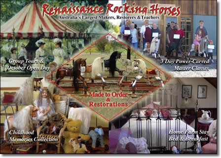 renaissance rocking horses at rocking horse lodge