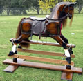 Large Chestnut Rocking Horse Right