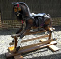 Large Chestnut Rocking Horse Left