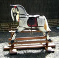 Large Grey Rocking Horse Left