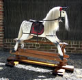 Large Grey Rocking Horse Right