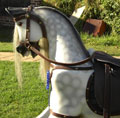 Large Grey Dappled Rocking Horse left