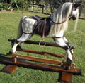 Large Grey Dappled Rocking Horse Right